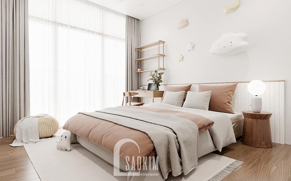 Thiết kế nội thất phòng ngủ xinh xắn cho bé chung cư The Zen Gamuda 157m2