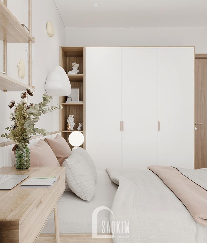 Thiết kế nội thất phòng ngủ cho bé cgung cư 157m2