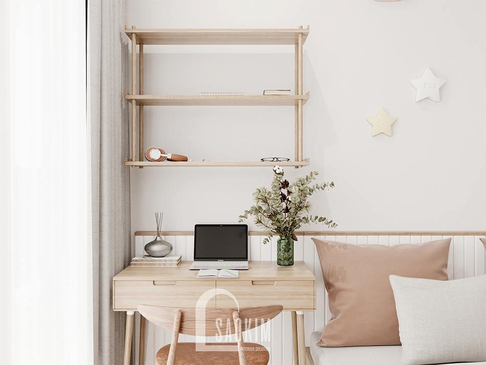 Thiết kế không gian học tập trong phòng riêng của bé