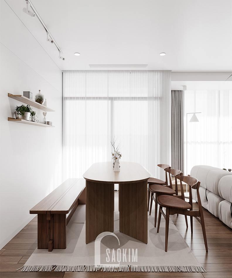 Thiết kế nội thất phòng ăn chung cư The Zen Gamuda 157m2
