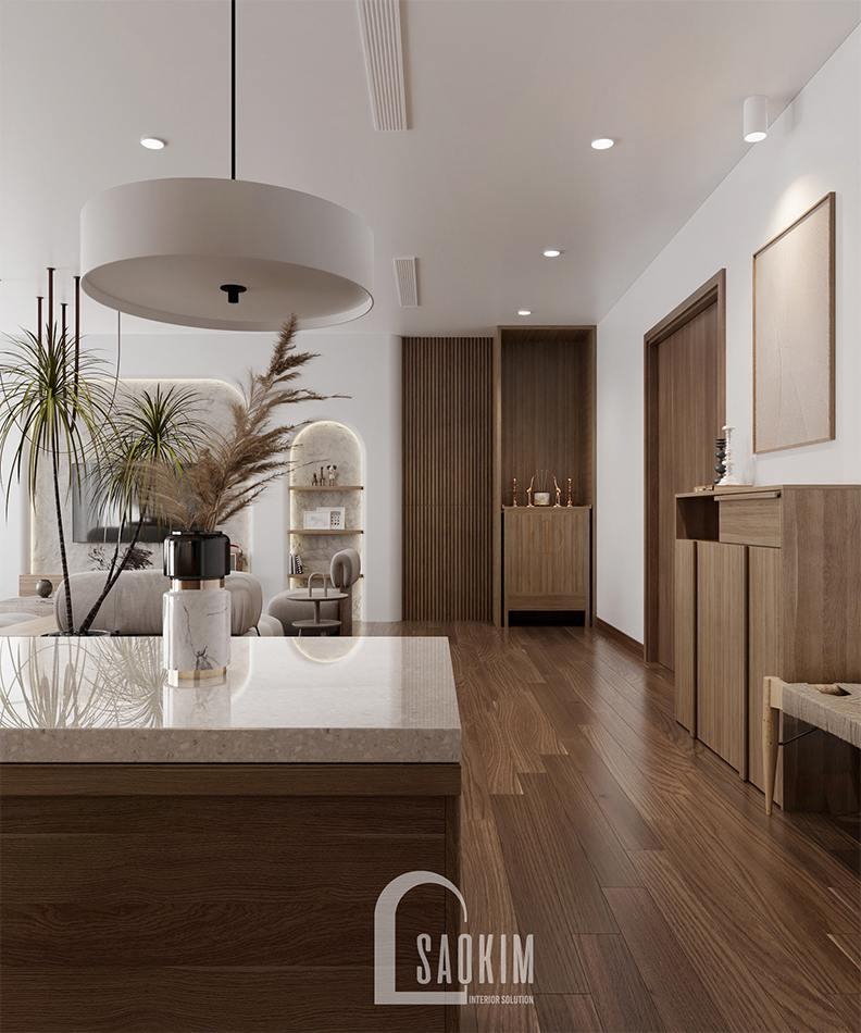 Không gian nội thất chung cư mang phong cách thiết kế Wabi Sabi
