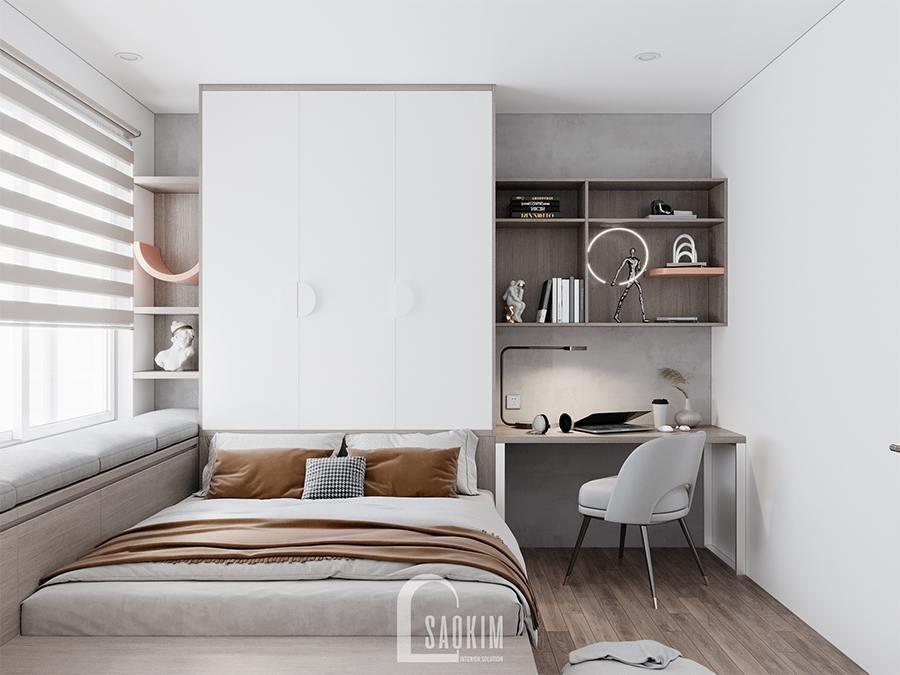 Thiết kế chung cư 4 phòng ngủ theo phong cách hiện đại Huyndai Hillstate - phòng ngủ cho bé 2