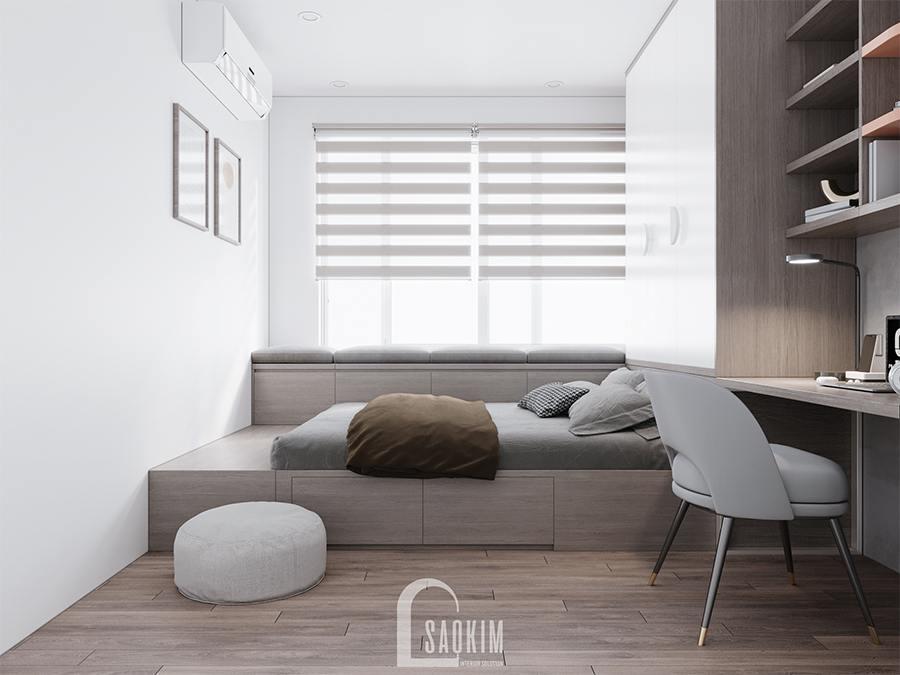 Thiết kế chung cư 4 phòng ngủ theo phong cách hiện đại Huyndai Hillstate - phòng ngủ 4