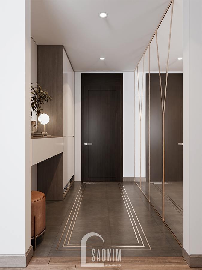 Thiết kế hành lang chung cư theo phong cách hiện đại - căn hộ Huyndai Hillstate