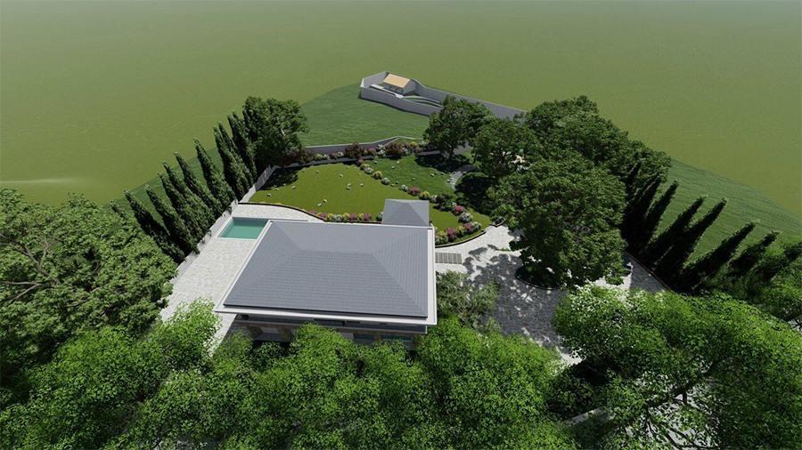 Thiết kế kiến trúc nội thất biệt thự nghỉ dưỡng đẹp trên khu đất rộng 9000m2 tại Ba Vì