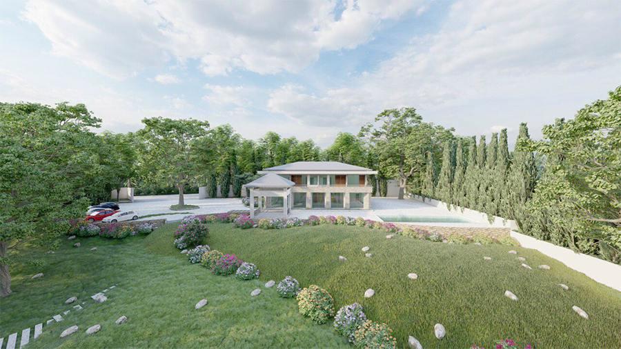 Thiết kế kiến trúc nội thất biệt thự nghỉ dưỡng đẹp trên mảnh đất rộng 9000m2 tại Ba Vì theo phong cách hiện đại