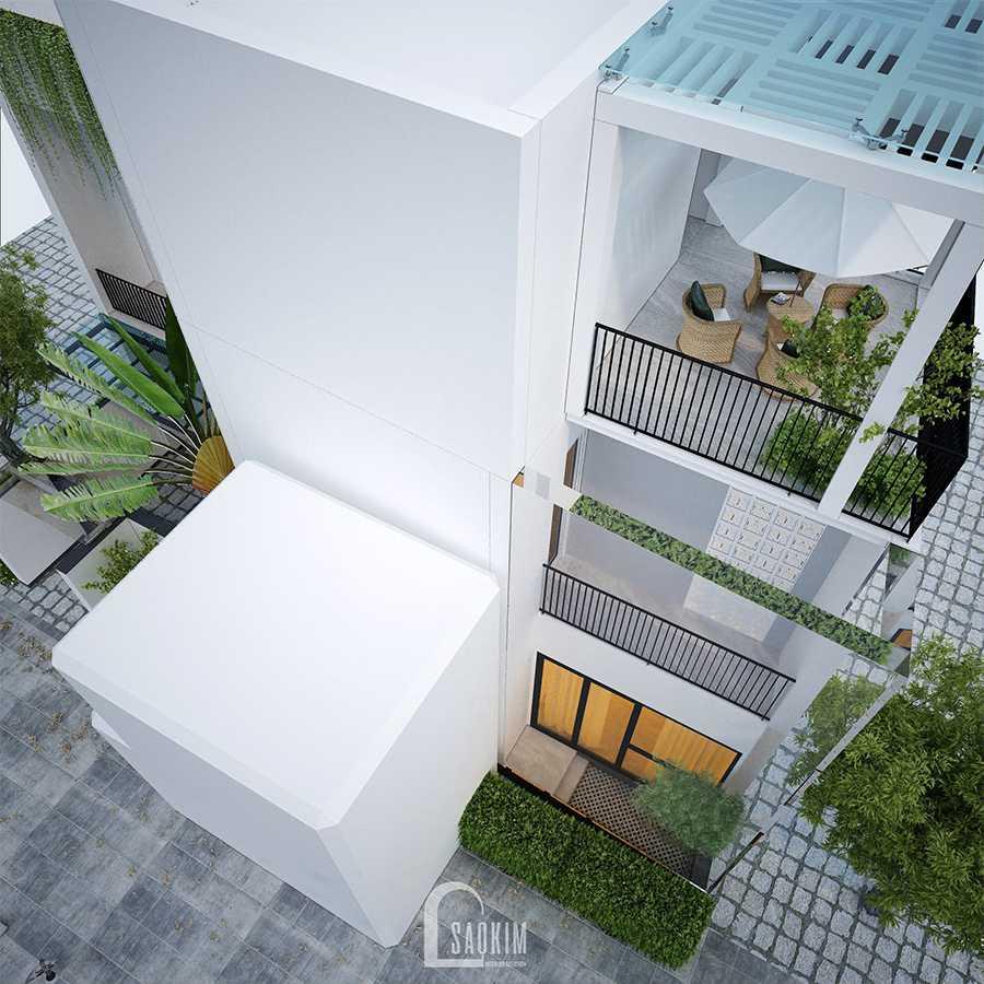 Thiết kế kiến trúc nhà phố 3 tầng theo phong cách hiện đại