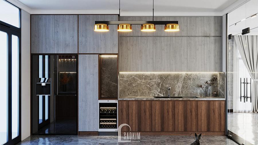 Thiết kế phòng bếp villa nghỉ dưỡng đẹp, sang trọng