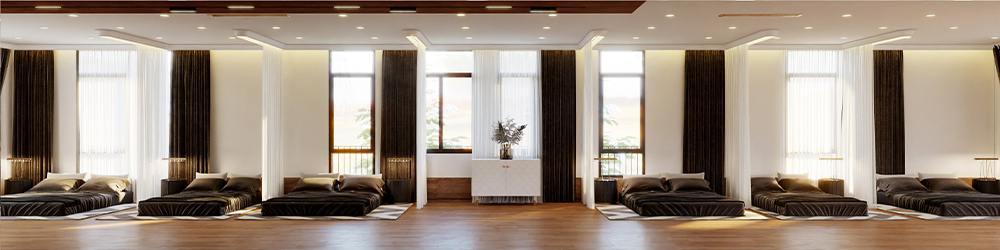 Không gian nghỉ ngơi chung trong thiết kế biệt thự nghỉ dưỡng