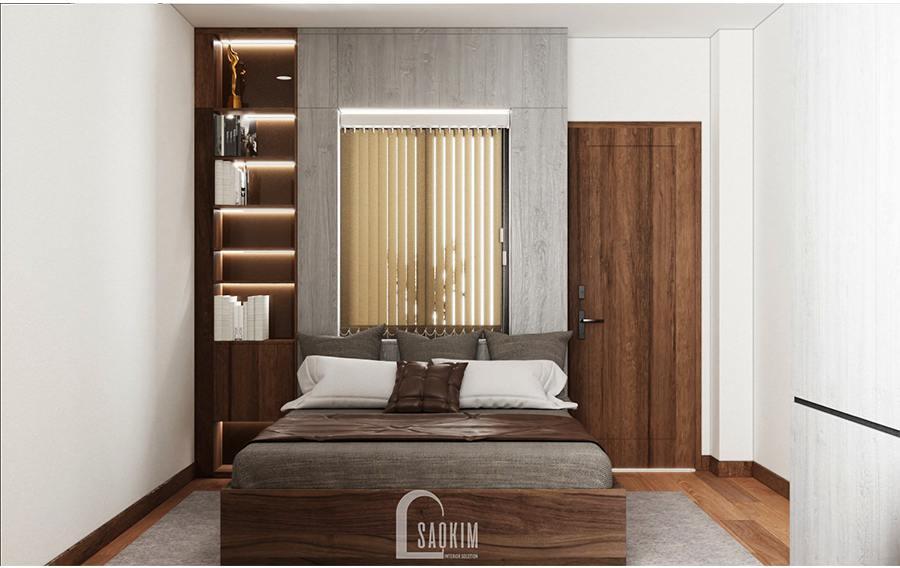 Phòng ngủ riêng tư, ấm cúng, tạo cảm giác thư thái cho chủ nhân