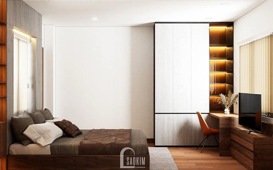 Thiết kế phòng ngủ biệt thự Ba Vì theo phong cách hiện đại
