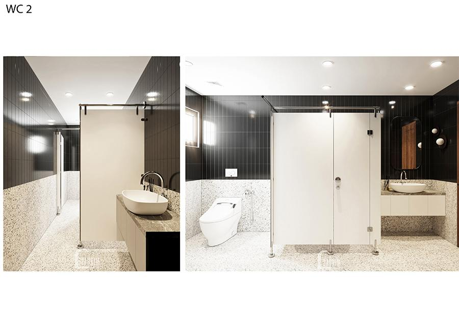 Thiết kế nội thất phòng tắm 2 villa