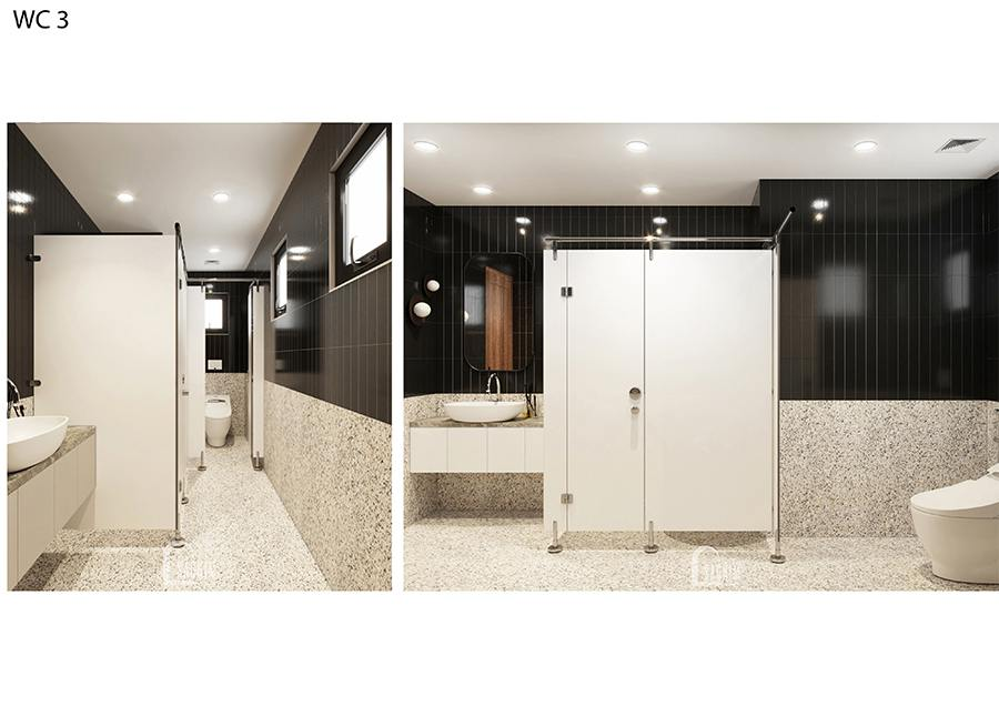 Thiết kế nội thất wc 3 villa