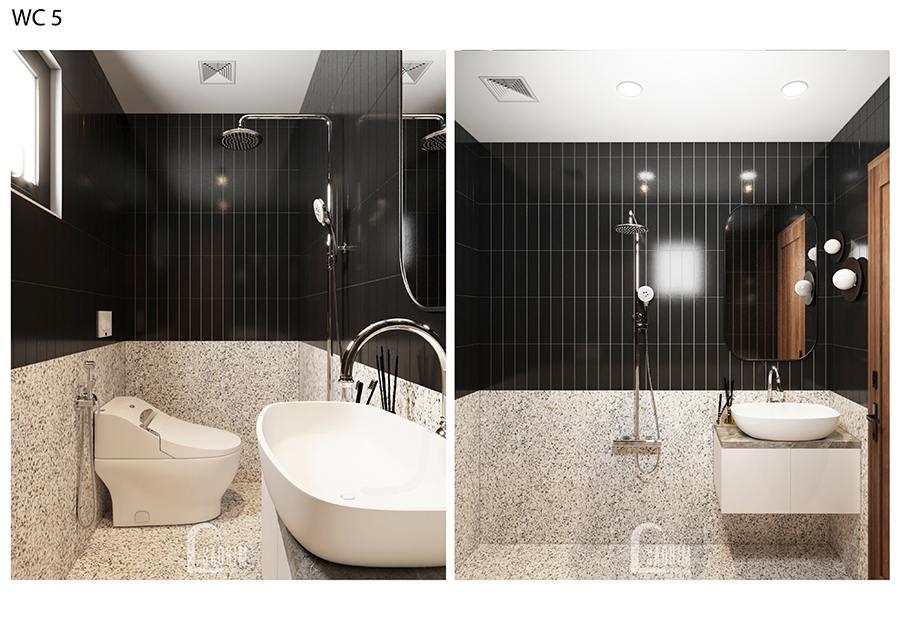 Thiết kế nội thất wc 5 biệt thự