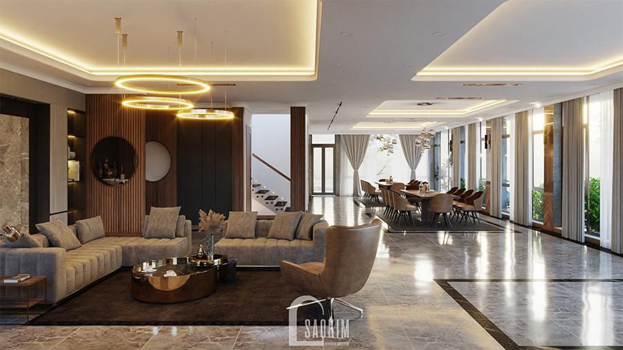 Thiết kế biệt thự nghỉ dưỡng đẹp 200m2 tại Ba Vì theo phong cách hiện đại