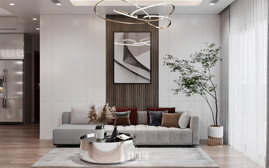 Thiết kế nội thất chung cư 85m2 Moon Tower Tây Hồ Residence mang vẻ đẹp sang trọng