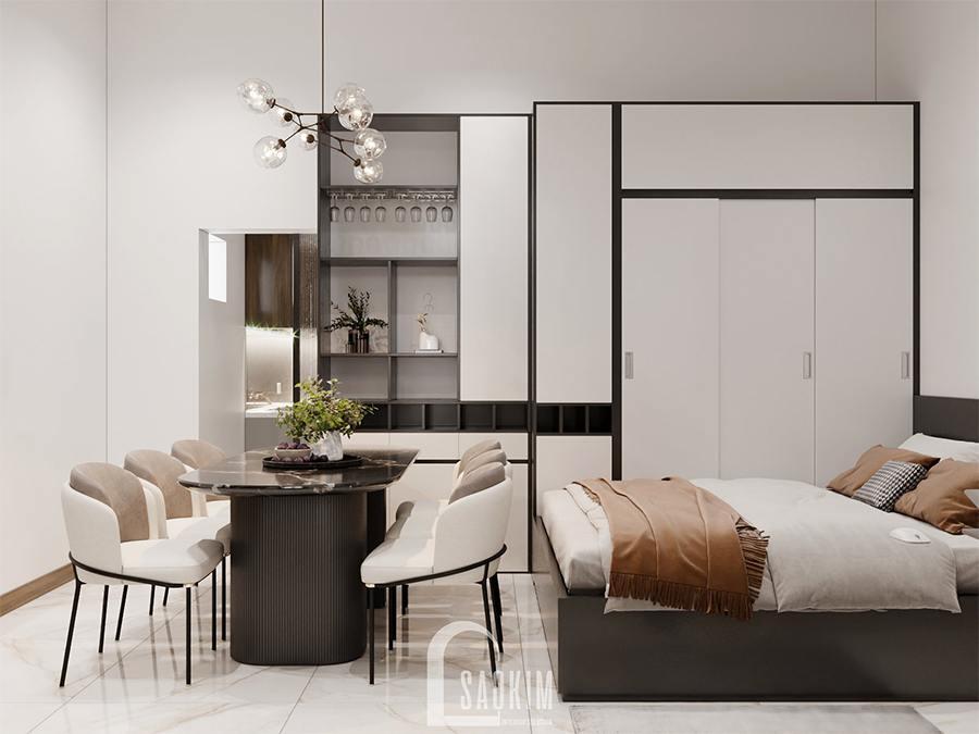 Thiết kế nội thất phòng ngủ 1 nhà phố hiện đại đẹp 3 tầng Chúc Sơn - Chương Mỹ