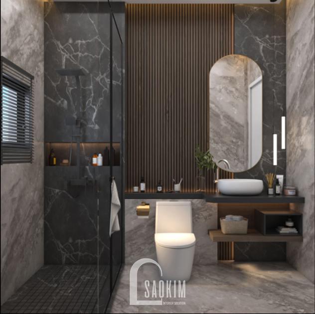 Thiết kế nội thất phòng tắm nhà phố phong cách hiện đại Chúc Sơn - Chương Mỹ