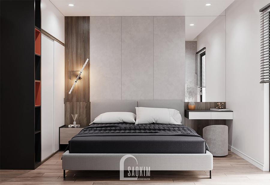 Thiết kế nội thất phòng ngủ 3 nhà phố theo phong cách hiện đại