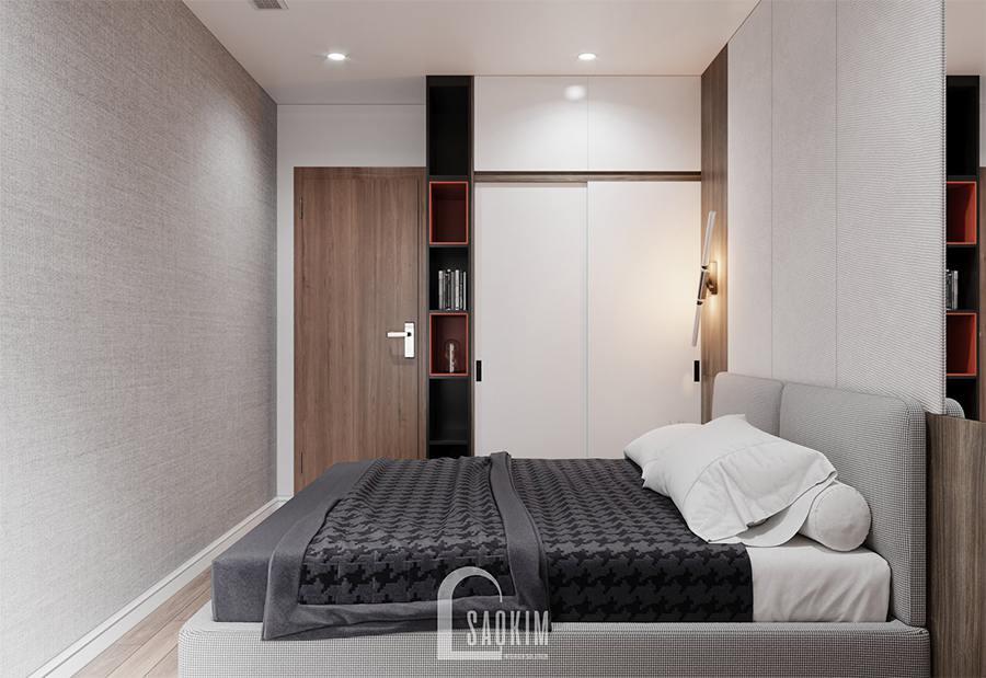 Thiết kế nội thất phòng ngủ 3 nhà phố theo phong cách hiện đại gọn gàng, ngăn nắp